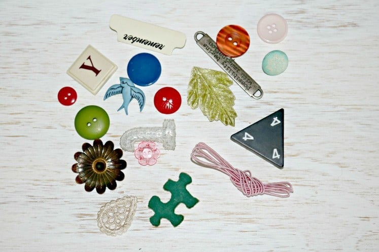 small embellishments scattered on table