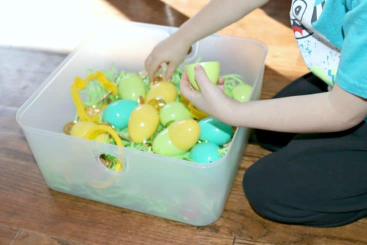 Counting Coins Easter Basket Activity for Little Kids