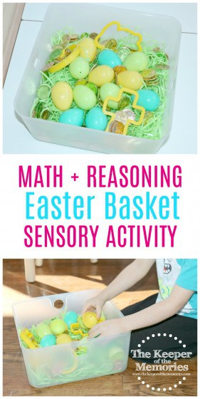 Quick and easy, fun counting sensory activity for preschoolers. #easter #sensory