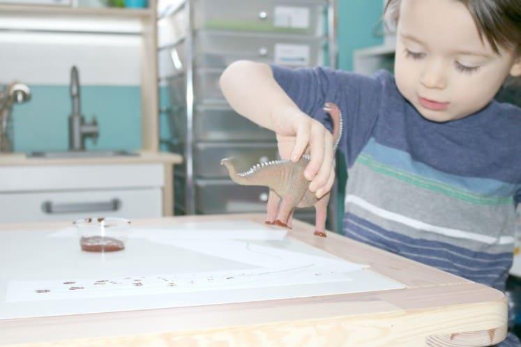 Dino Tracks Painting 1