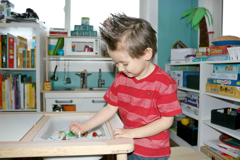 Dinosaur Pretend Play Sensory Activity for Little Kids