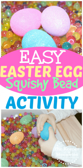 Easter Egg Water Bead Sensory Activity