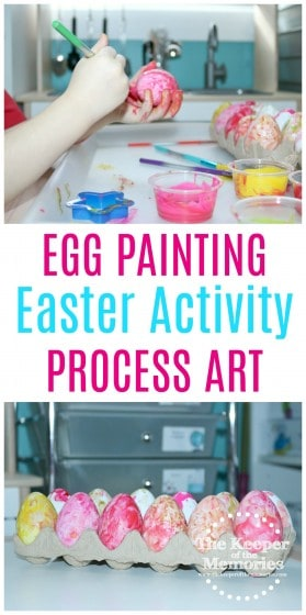 Everyone dyes Easter eggs, but how about a fun egg painting process art activity for preschoolers? You're definitely going to want to check it out!
