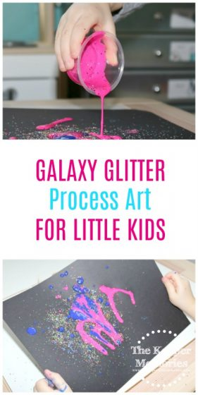 Let your little astronauts make their own galaxy! This is definitely a favorite for a preschool space theme! Check it out! #art #space #preschool #craft
