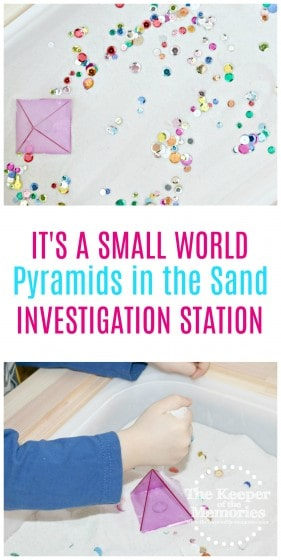 What an awesome sensory bin for preschoolers! This would be so cool for a Geography unit. Check it out!