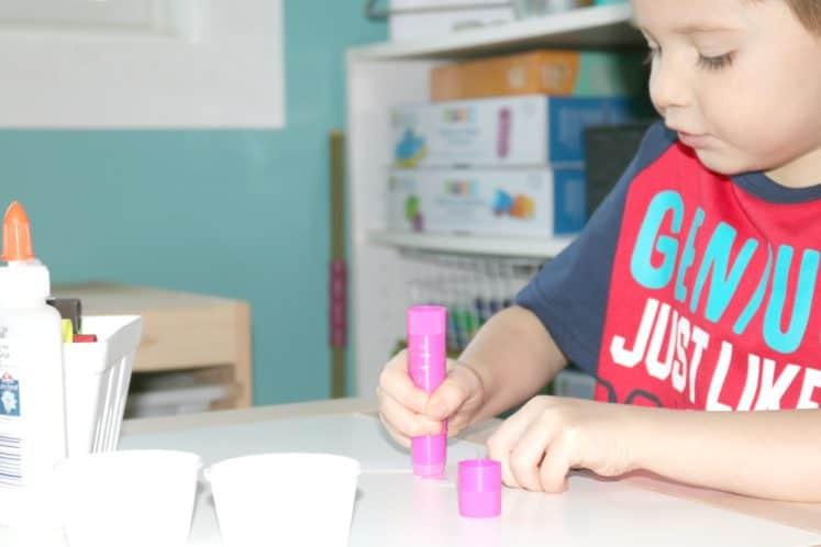 preschool painting cross craft