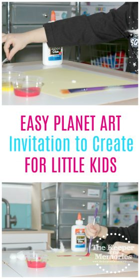 Here's a fun project that mixes art and science for a preschool space theme. Teach your little kids about Venus and color mixing. Check it out! #art #space #preschool #craft