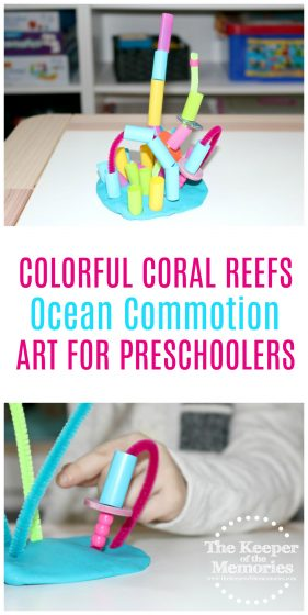 OMG! This is one of the best activities for teaching little kids about coral reefs! Love it! #preschool #ocean