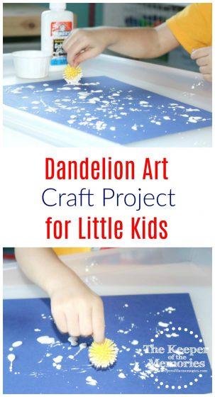 Dandelion Art for Little Kids