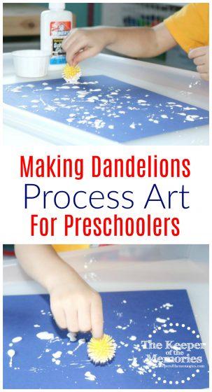 Making Dandelions Process Art for Preschoolers