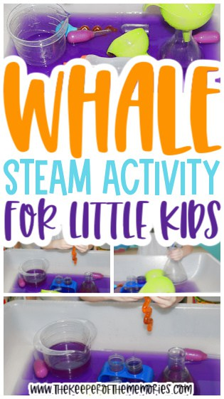 Whale STEAM Investigation Station for Preschoolers