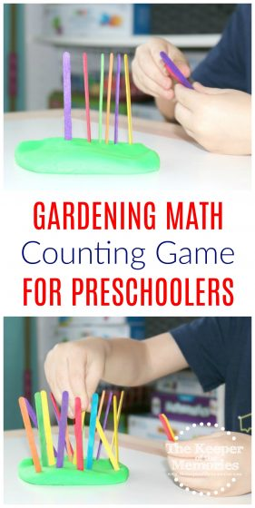 Gardening Math Counting Game for Preschoolers