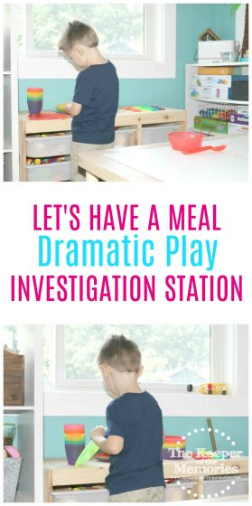 Another fun activity for your dramatic play center. And of course this one is all about setting the table. Check it out!