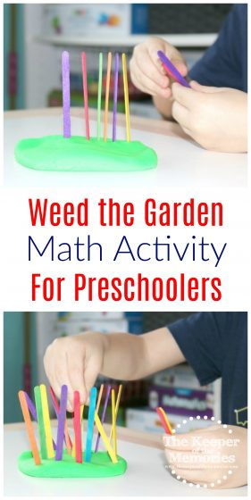 Weed the Garden Math Activity for Preschoolers