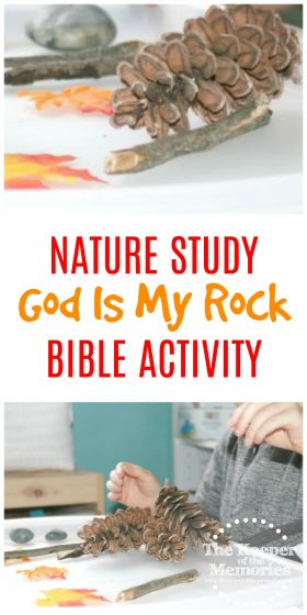 Here's a fun God Is My Rock Preschool Nature Study Bible Activity that uses found items to teach a very important lessons about how mcuh God cares about our feelings. You're definitely going to want to check it out!