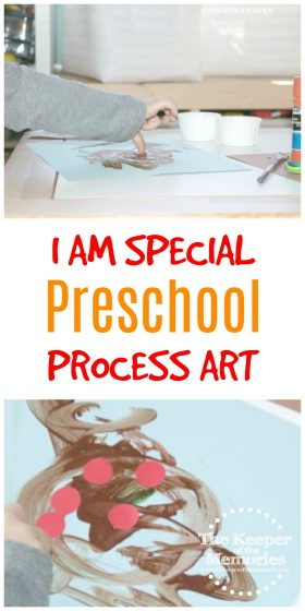 Are you planning a Friends & Feelings preschool theme? Here's a fun I Am Special process art experience to get you started! We love these invitation to create activities in our preschool homeschool and you definitely will too!