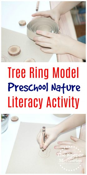 If you're exploring Preschool Life Cycles or even working on a preschool orchard theme, here's a fun Tree Ring Model Literacy Activity for Little Kids. This one's so quick & easy to put together that you're definitely going to want to check it out!