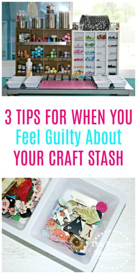 So you're feeling a little guilty, right? You spent a ton of money at the craft store and you have all of these awesome supplies, but you just don't use them. Here's how to cope with craft stash guilt... #craftstash #craftsupplies #craftroom