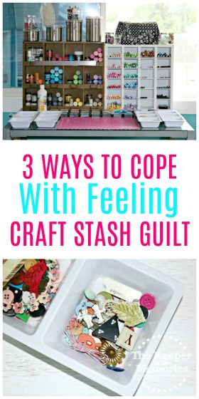 So you're feeling a little guilty, right? You spent a ton of money at the craft store and you have all of these awesome supplies, but you just don't use them. #craftstash #craftsupplies #craftroom