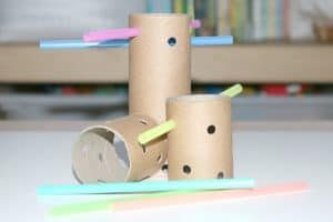 DIY Tinker Toys Investigation Station for Little Kids