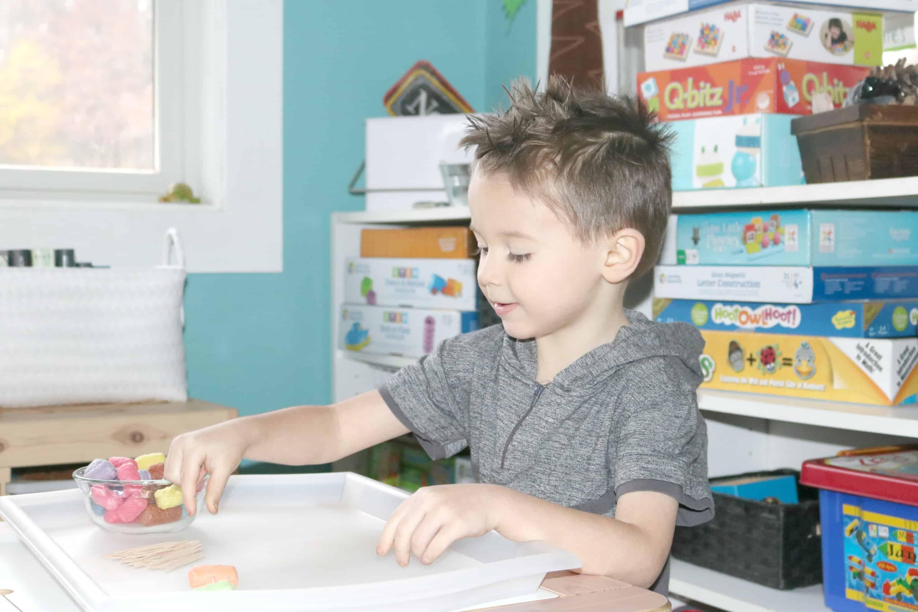 Making Bridges Investigation Station for Preschoolers