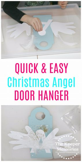 If you're looking for quick & easy, kid-friendly Christmas decorations and/or ideas for preschool bible lessons, then you're definitely going to want to check out this A is for Angel Door Hanger!