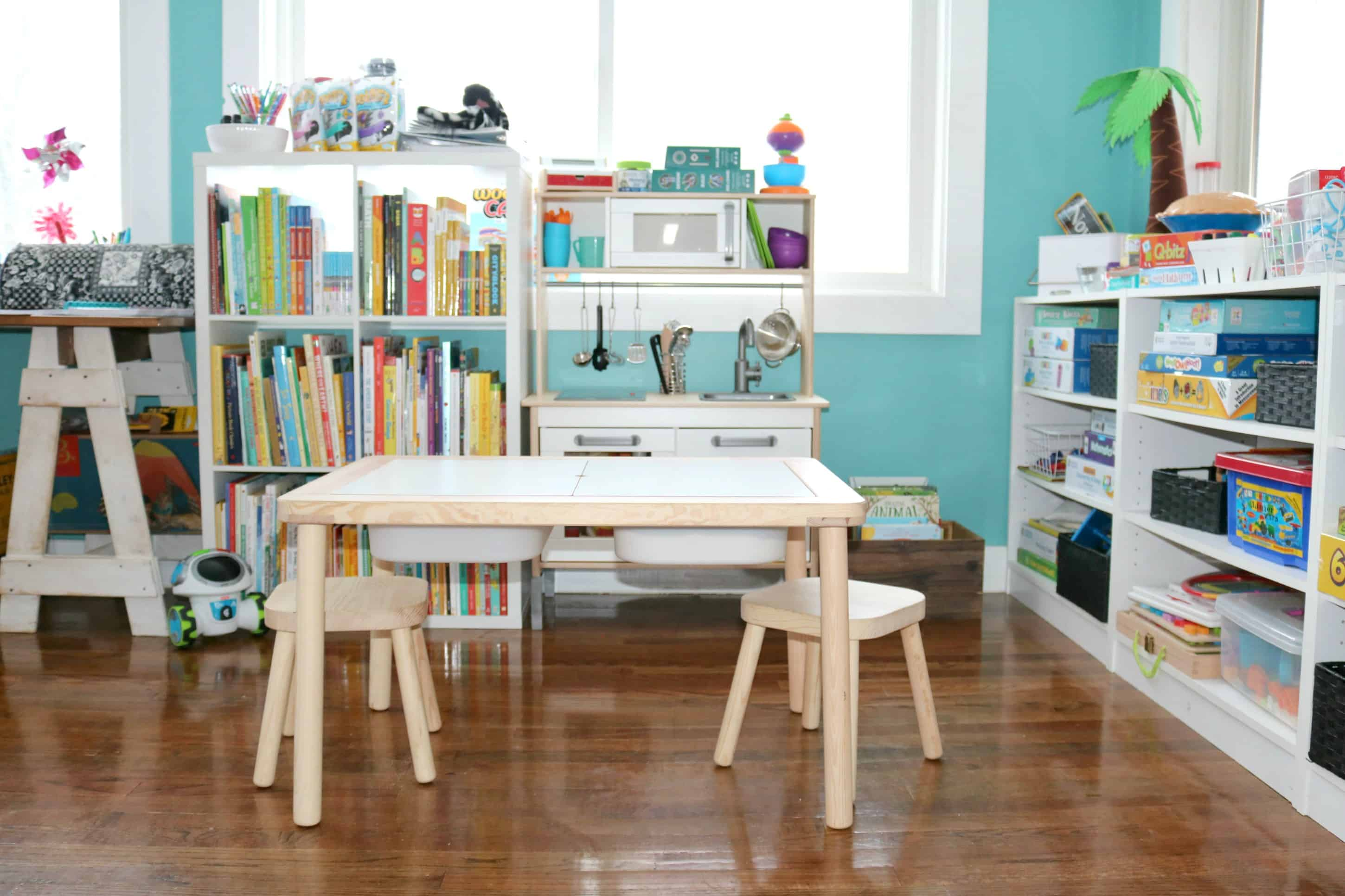 Our Awesome Preschool Homeschool Space for the New Year
