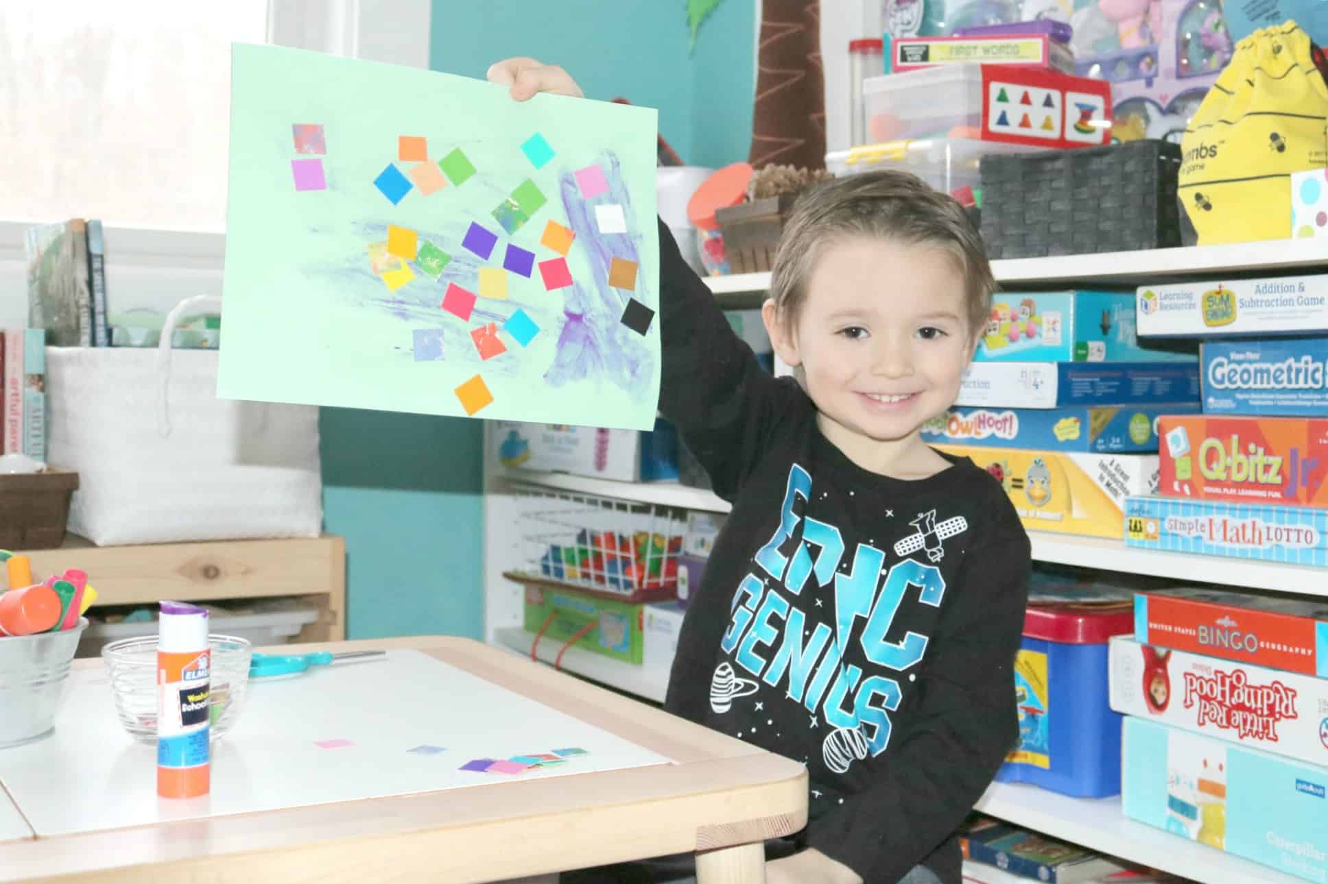 Preschool Safari Activities Migration Invitation to Create Process Art Experience