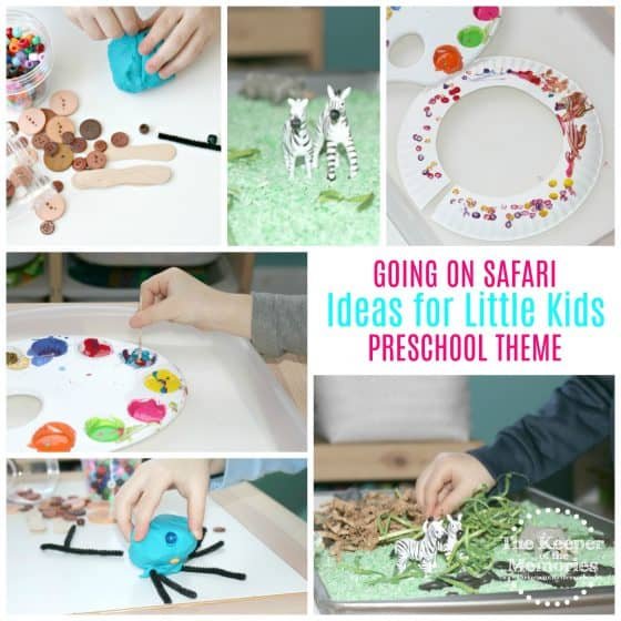 Are you looking for fun preschool safari ideas for little kids? Here are a few to get you started. This post includes everything from process art and crafts to sensory activites and STEAM. Let's go on safari, y'all!