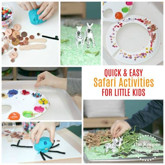 Are you looking for fun preschool safari ideas for little kids? Here are a few to get you started. This post includes everything from process art and crafts to sensory activities and STEAM. Let's go on safari, y'all!