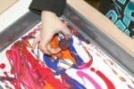 Preschool Fitness Theme Roll Painting Invitation to Create Process Art Experience