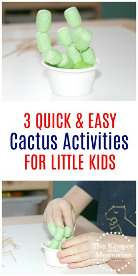 Quick and Easy Desert Cactus Activities for Kids
