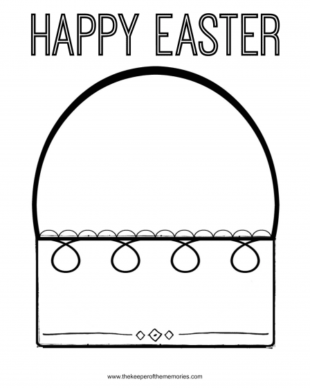 Free Printable Easter Coloring Pages for Preschoolers