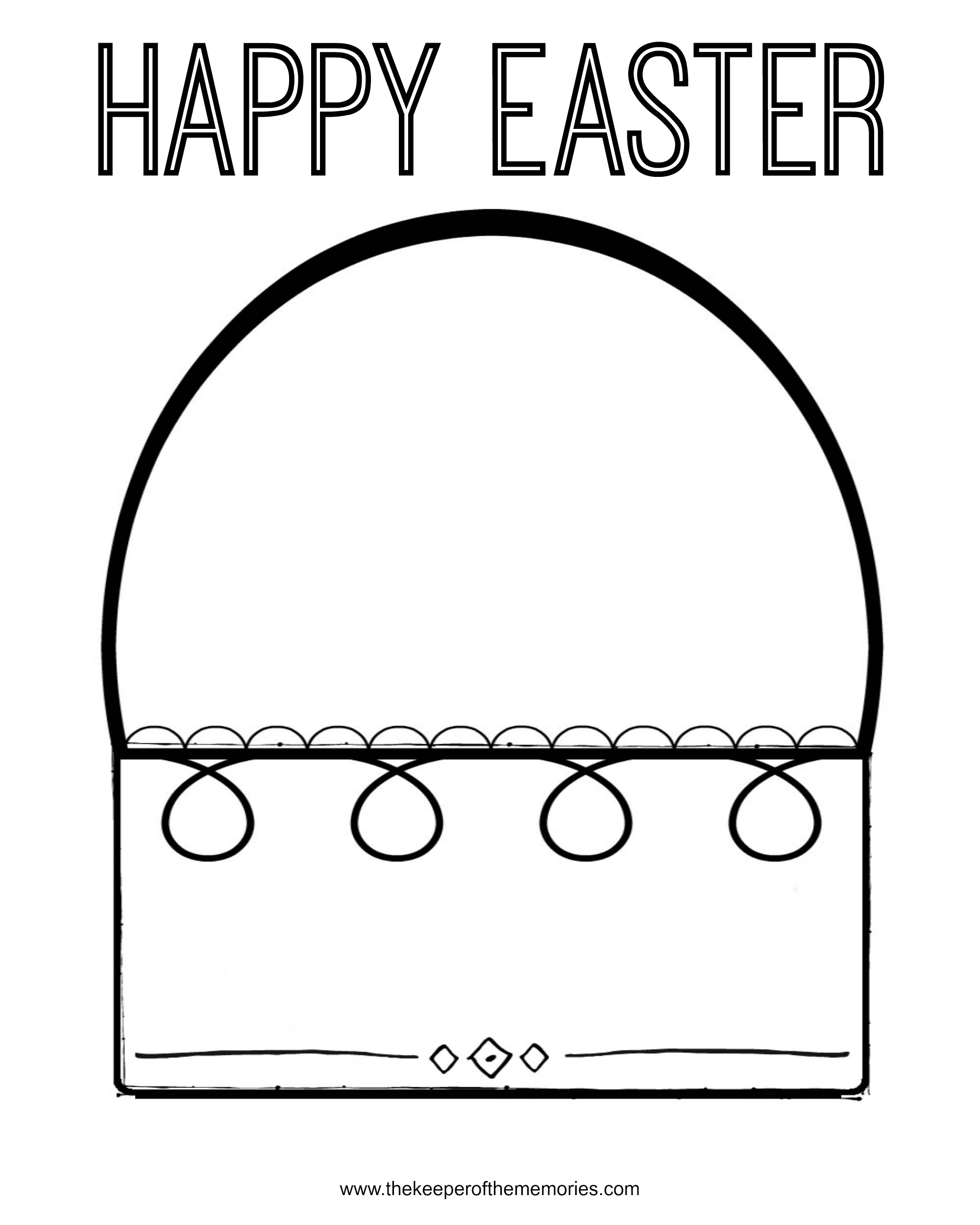 - Free Printable Easter Coloring Pages For Preschoolers - The Keeper