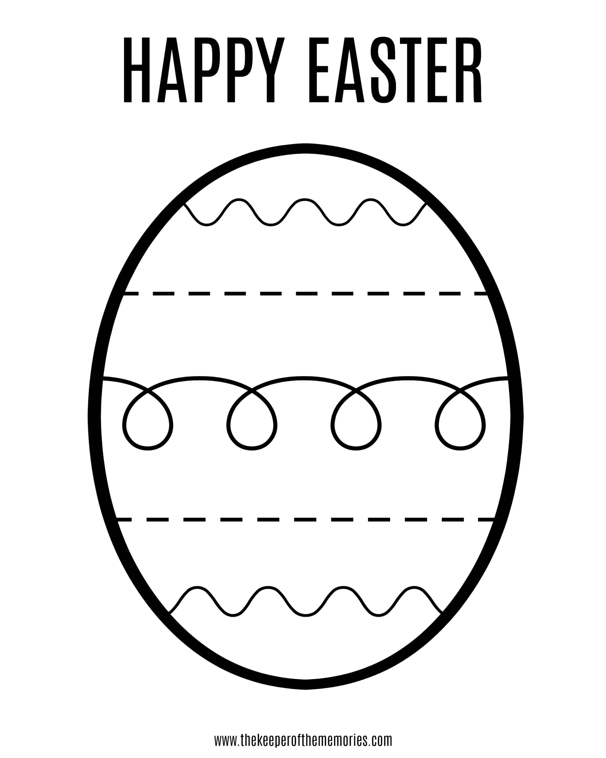 picture about Printable Easter Egg identified as Cost-free Printable Easter Coloring Sheet for Minimal Little ones - The