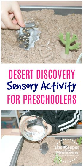 Preschoolers love sensory activities and here's an awesome one to add to your next preschool desert theme. We're going to have lots of fun creating a desert oasis and talking about how people and animals cool off in the Sahara!