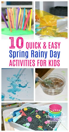 spring rainy day activities for kids
