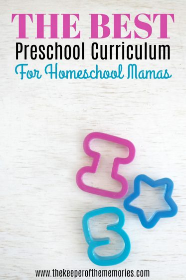 The Best Preschool Curriculum for Homeschool Mamas