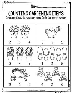 Counting Gardening Items