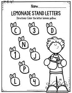 Lemonade Stand Letters