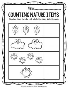 Free Printable Nature Kindergarten Worksheets 1
