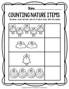 Nature Counting Worksheet 2