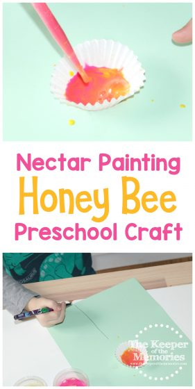 Nectar Painting Honey Bee Preschool Craft