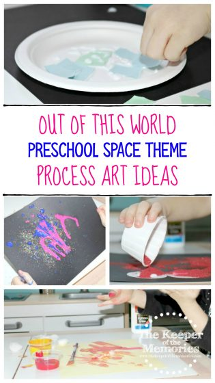 Out of This World Preschool Space Theme Process Art Ideas