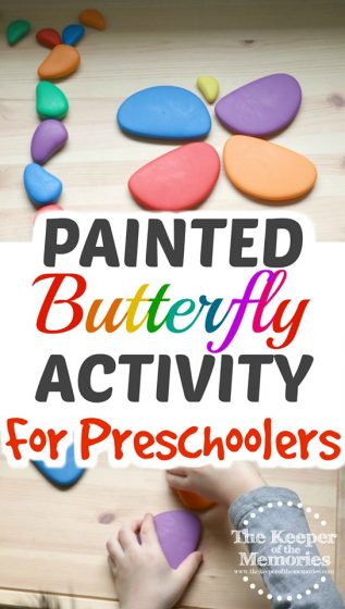 Painted Butterfly Activity for Preschoolers