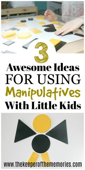 3 Ideas for Using Preschool Manipulatives In Your Homeschool