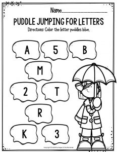 Puddle Jumping for Letters