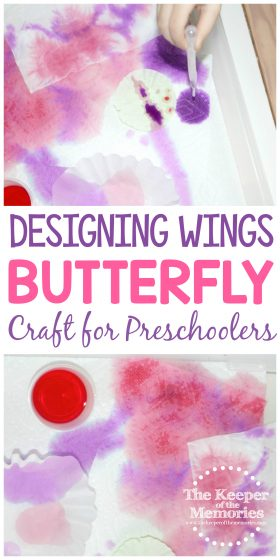 Designing Wings Butterfly Craft for Preschoolers
