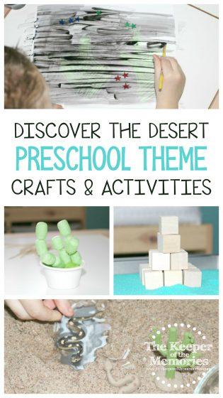 Discover the Desert Preschool Theme Crafts & Activities