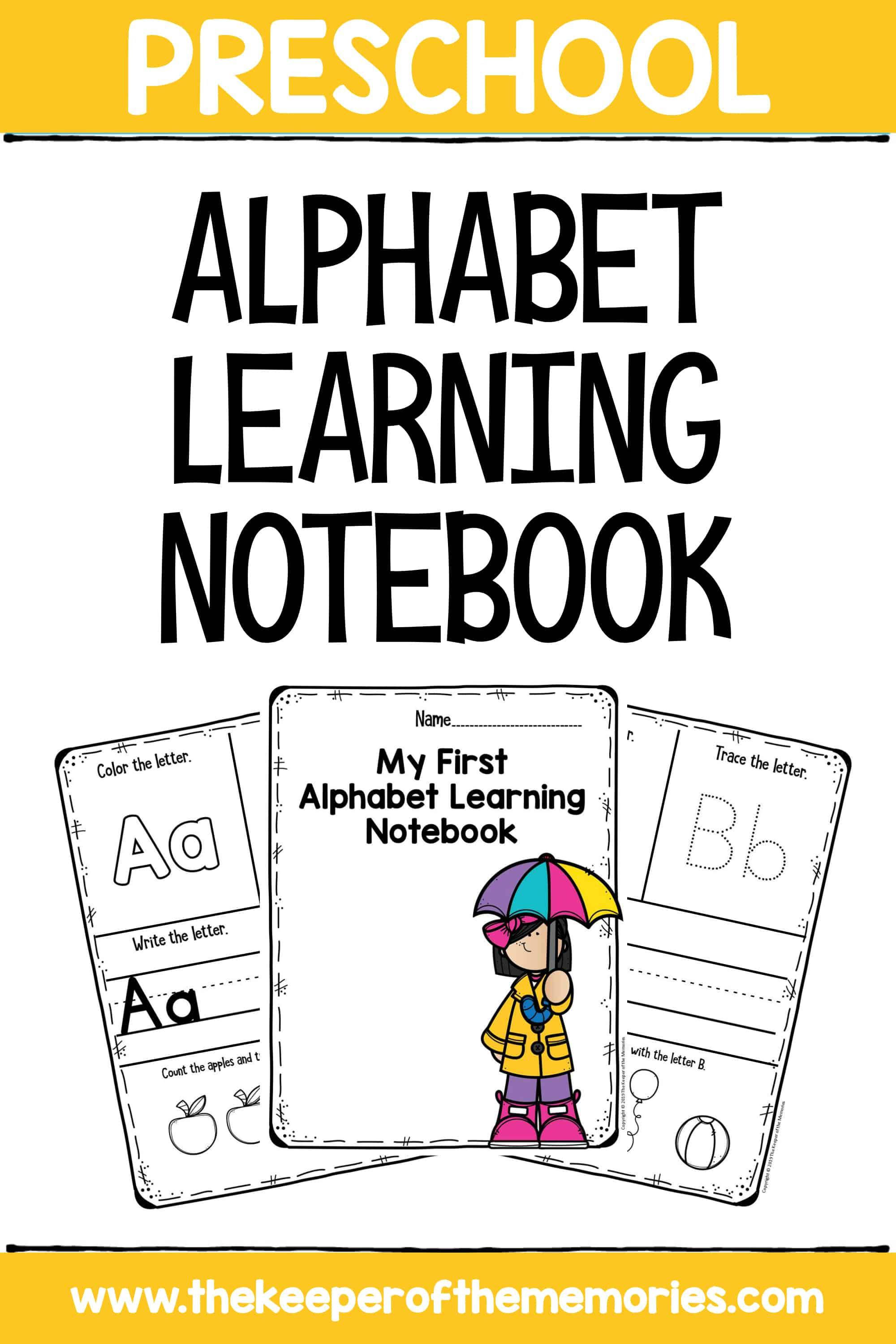 My First Alphabet Learning Notebook Letters Preschool Worksheets for Little Kids